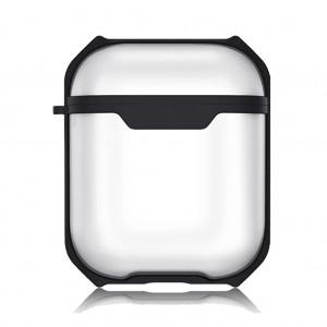 Apple Airpods Kılıf Wiwu Bumper Case Buzlu Şeffaf 360 Tam Koruma