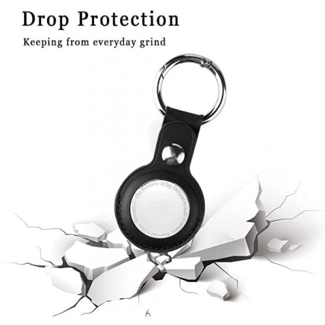 Apple Airtag Kılıf Deri Askı Anahtarlık Leather Key Ring