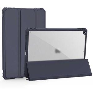 Apple iPad 5 Nesil 9.7 2017 Kılıf Wiwu Alpha Tablet Case Arkası Şeffaf Airbag Kenarlı Uyku Modlu