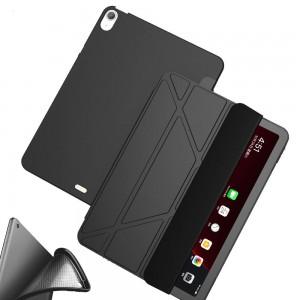 Apple iPad Air 4 Kılıf 10.9 Arkası Silikon Trifold Smart Case
