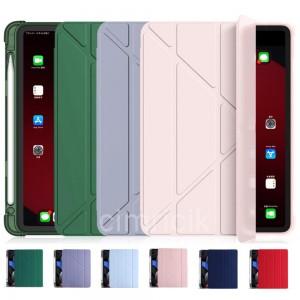 Apple iPad Pro 11 2020 Kılıf 2.Nesil Smart Cover Arkası Şeffaf Yumuşak Silikon + Kalem Yuvası