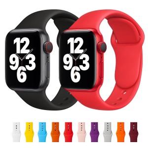 Apple Watch Kordon 2 3 4 5 6 SE 38 40 mm Kordon Silikon Kayış