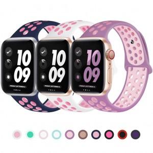 Apple Watch Kordon 38 mm 40 mm 2 3 4 5 6 SE Spor Silikon Kordon