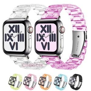 Apple Watch Kordon + Kılıf 42 mm Transparant Klasik Tasarım Kordon + Silikon Kılıf - K33