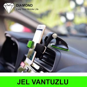 Araç İçi Telefon Tutucu-Diamond Jel Vantuz Torpido Araç Tutacağı