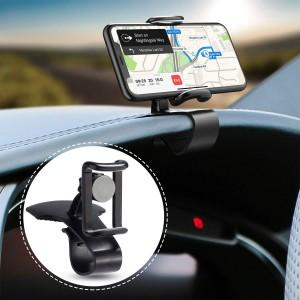 Araç İçi Telefon Tutucu Gösterge Üzerine Takılan Kıskaçlı Dönerli