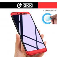 Samsung Galaxy A8 Plus 2018 Kılıf GKK 360 Derece + Nano Cam (ZPEB56)