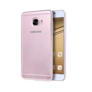 Samsung Galaxy C5 Silikon Kılıf + Temperli Cam Ekran Koruyucu