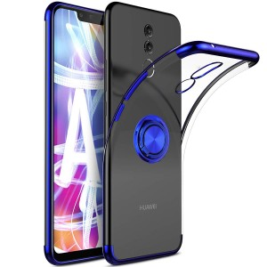 Huawei Mate 10 Lite Kılıf Şeffaf Gizli Yüzüklü Standlı (JQC84RF)