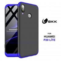 Huawei P20 Lite Kılıf GKK 360 Derece Koruma Sert 3in1 (XCT657Y)