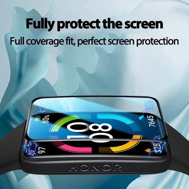 Huawei Band 6 Ekran Koruyucu Nano Esnek Cam Tam Kaplayan