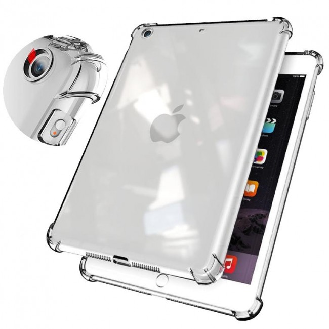 iPad 7 Nesil 10.2 inch Kılıf A2197 A2200 A2198 Darbe Emici Şeffaf Silikon