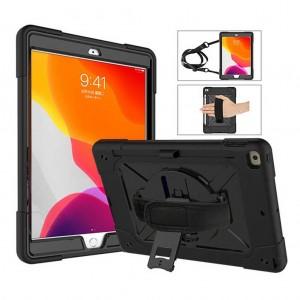 iPad 7 Nesil Kılıf 10.2 inc A2197 A2200 A2198 Defender Zırh Kılıf Askılı Stand