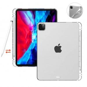 iPad Pro 12.9 2020 Kılıf A2229 A2069 A2232 A2233 Şeffaf Silikon Kılıf + Kalem Yuvası