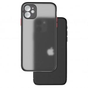 iPhone 11 Kılıf Mat Glass Case Tam Kamera Korumalı