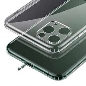 iPhone 11 Pro Kılıf Şeffaf Kamera Üzerini Tam Kapatan Altı Tıpalı