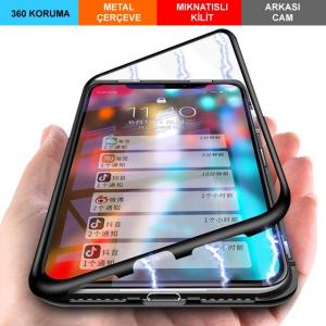 iPhone 7 Plus Kılıf Mıknatıslı 360 Derece Koruma 1. Kalite (7BVR)