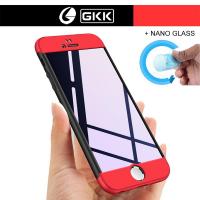 iPhone 8 Plus Kılıf GKK 360 Derece Tam Koruma Trio + Nano Glass