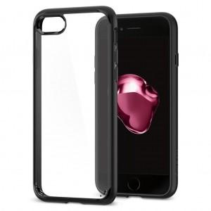 iPhone 7 Kılıf Glass Case Kenarı Silikon Arka Polikarbon Cam