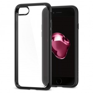 iPhone 7 Plus Kılıf Glass Case Kenarı Silikon Arka Polikarbon Cam