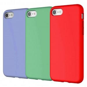 iPhone 8 Plus Kılıf İçi Kadife Dışı Mat Kaymaz Liquid Silikon