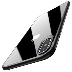 iPhone X XS Kılıf Glass Case Kenarı Silikon Arka Polikarbon Cam