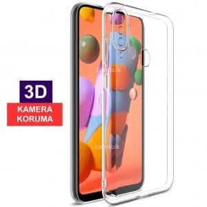 Samsung Galaxy A20S Kılıf Kamera Korumalı Kamerayı Tam Kapatan