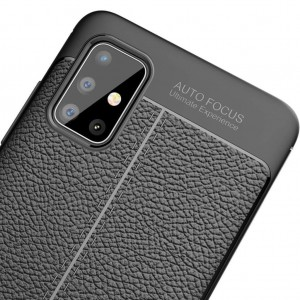 Samsung Galaxy A51 Kılıf Kamera Korumalı Mat Slim Fit Deri Desen