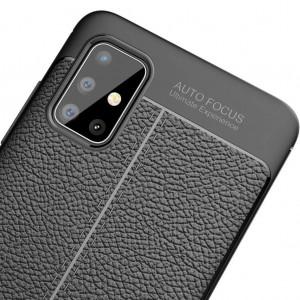 Samsung Galaxy A71 Kılıf Kamera Korumalı Mat Slim Fit Deri Desen