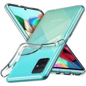 Samsung Galaxy A71 Kılıf Şeffaf Kamera Korumalı Yumuşak Silikon