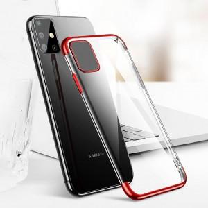 Samsung Galaxy A71 Kılıf Şeffaf Kenarları Renkli Yumuşak Silikon