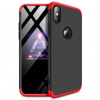 iPhone XS Max Kılıf 360 Derece Tam Koruma Kılıfı 3in1 Sert Kapak