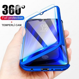 Samsung Galaxy A51 Kılıf 360 Derece Tam Koruma + Temperli Cam