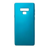 Samsung Galaxy Note 9 Mavi Silikon Kılıf Ultra İnce Mat Yumuşak