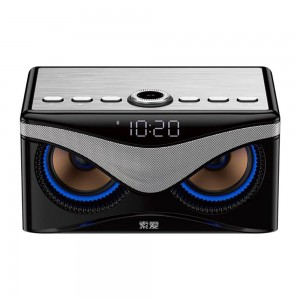 Soaiy S10 Bluetooth Hoparlör 2x10W Çıkış + Subwoofer Dijital Saat