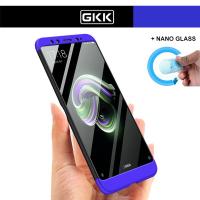 Xiaomi Mi A2 Kılıf GKK 360 Derece Koruma + Nano Esnek Cam (HAJH7)