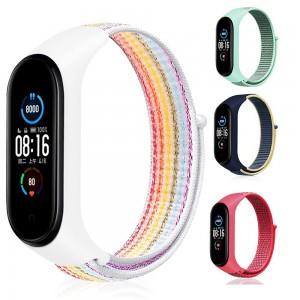 Xiaomi Mi Band 6 Kordon Hasır Dokuma Kumaş Kordon Spor Loop Kayış