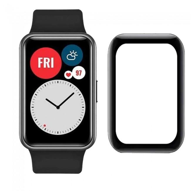 Huawei Watch Fit Ekran Koruyucu Nano Esnek Cam Tam Kaplayan